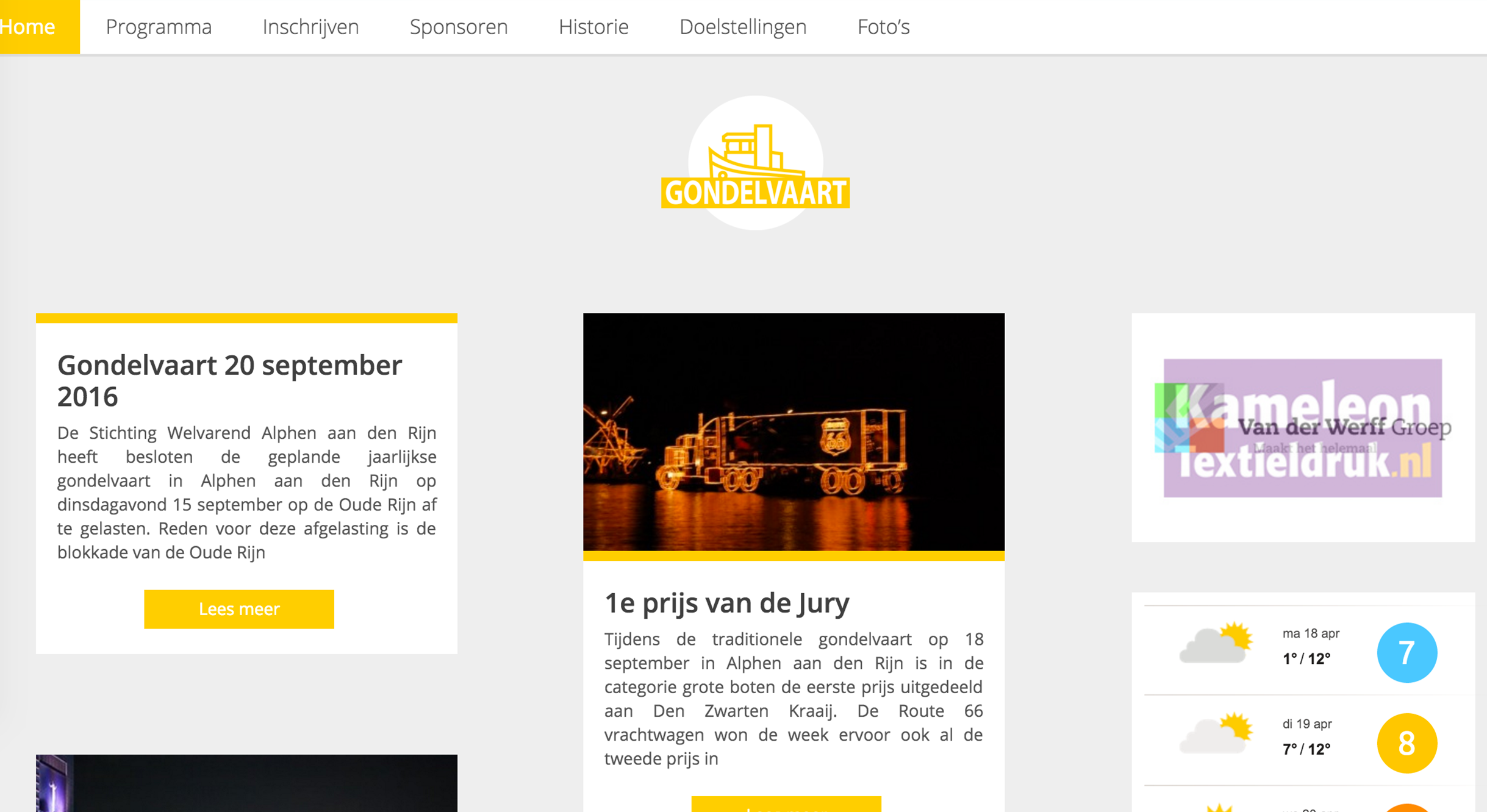 Website Gondelvaart